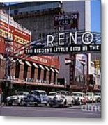 Reno The Biggest Little City In The World 1940s Metal Print