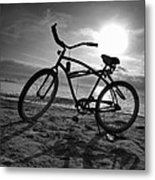 The Bike Metal Print by Peter Tellone