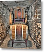 The Biltmore Estate Wine Barrels Metal Print