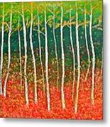 The Birches Metal Print