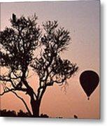 The Bird And The Balloon Metal Print