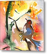 The Bird And The Flower 01 Metal Print