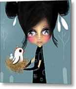 The Bird Whisperer Metal Print