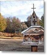 The Birdhouse Kingdom - American Kestrel Metal Print