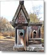 The Birdhouse Kingdom - Cedar Waxing Metal Print