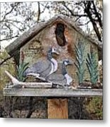 The Birdhouse Kingdom - The Geese A Swimming Metal Print