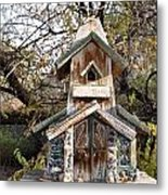 The Birdhouse Kingdom - The Red Crossbill Metal Print