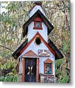 The Birdhouse Kingdom -the Pygmy Nuthatch Metal Print