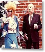 New Orleans The Birds And Alfred Hitchcock Mardi Gras Day In The French Quarter In Louisiana Metal Print