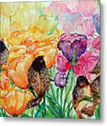 The Birds Of Spring Shower Blessings On You Metal Print