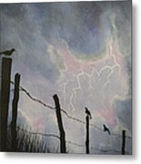 The Birds - Watching The Show Metal Print