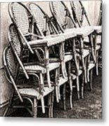 The Bistro Has Closed Metal Print by Olivier Le Queinec