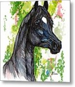 The Black Horse 1 Metal Print