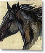 The Black Horse Metal Print