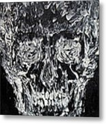 The Black Skull - Oil Portrait Metal Print