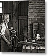 The Blacksmith 2 Monochrome Metal Print