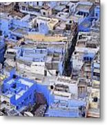 The Blue City Of Jodhpur In India Metal Print