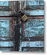 The Blue Door 2 Metal Print