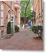 The Blue Door - Gaslight Court Chicago Old Town Metal Print by Christine Till