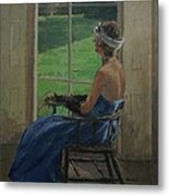 The Blue Dress, 2009 Oil On Canvas Metal Print