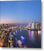 The Blue Hour In Shanghai Metal Print