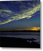 The Blue Hour Sunset Metal Print