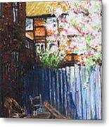 The Blue Paling - Backyard Of The Arthouse Buetzow Metal Print