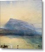 The Blue Rigi - Sunrise Metal Print