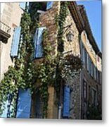 The Blue Shutters Metal Print