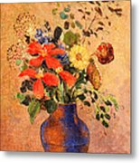 The Blue Vase Metal Print