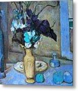 The Blue Vase Metal Print