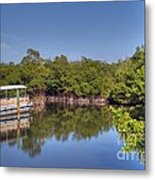 The Boat And The River Metal Print