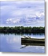 The Boat In Kerkini. Metal Print by Slavica Koceva