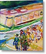 The Boat Trip, 1989 Wc On Paper Metal Print