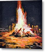 The Bonfire Metal Print