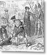 The Boston Massacre, March 5th 1770, Engraved By A. Bollett Engraving B&w Photo Metal Print