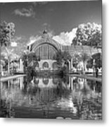 The Botanical Building In Black And White Metal Print