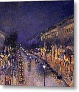 The Boulevard Montmartre At Night Metal Print