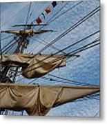 The Bounty's Rigging Metal Print