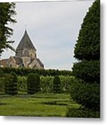 The Boxwood Garden - Villandry Metal Print