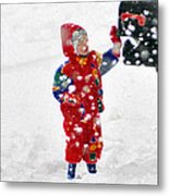 The Boy And The Box 3 Metal Print
