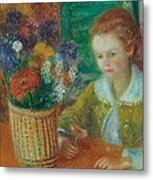 The Breakfast Porch Metal Print by William James Glackens