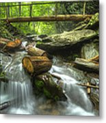 The Bridge At Alum Cave Metal Print by Debra and Dave Vanderlaan
