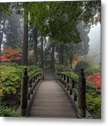 The Bridge In Japanese Garden Metal Print