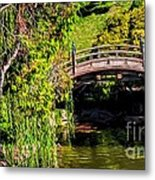 The Bridge In The Japanese Garden Metal Print