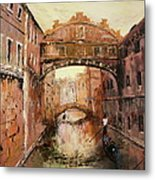 The Bridge Of Sighs Venice Italy Metal Print