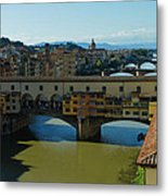 The Bridges Of Florence Italy Metal Print