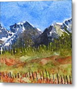 The Bright And Cheery Way Metal Print