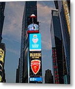 The Bright Lights Of Times Square Metal Print