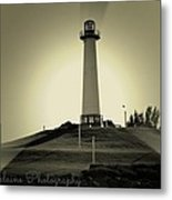 The Brightly Lit Lighthouse Metal Print